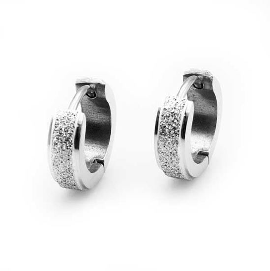 Picture of Hoop Huggie Earrings Stainless Steel