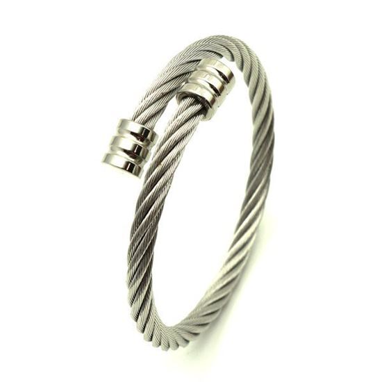 Picture of Cable Twisted Bangle Stainless Steel