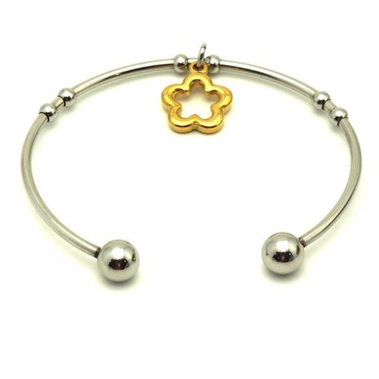 Picture of Charm Bangle Stainless Steel Gold Plating
