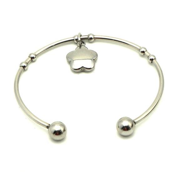 Picture of Charm Flower Bangle Stainless Steel