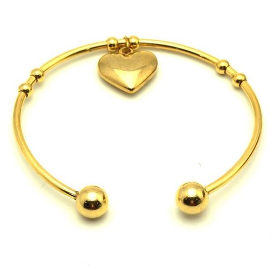 Picture of Charm Heart Bangle Stainless Steel