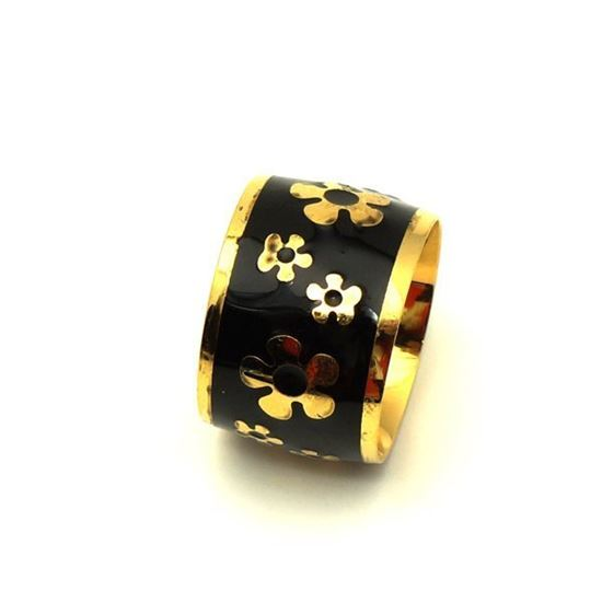 Picture of White Flower Ring Stainless Steel Enamel