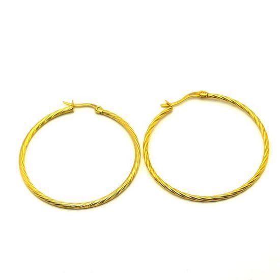 Picture of Hoop Earrings Stainless Steel Gold Plating
