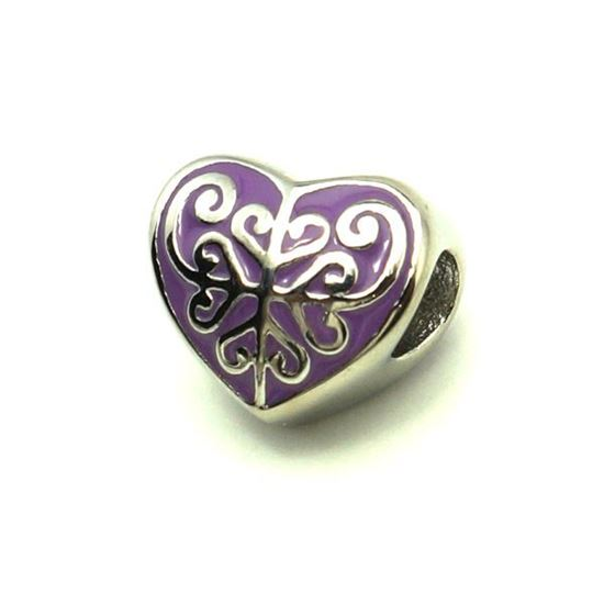 Picture of Heart Pendant Stainless Steel Enamel
