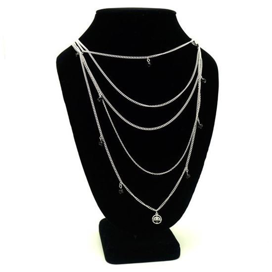 Picture of Stainless Steel Necklace with Five Laps