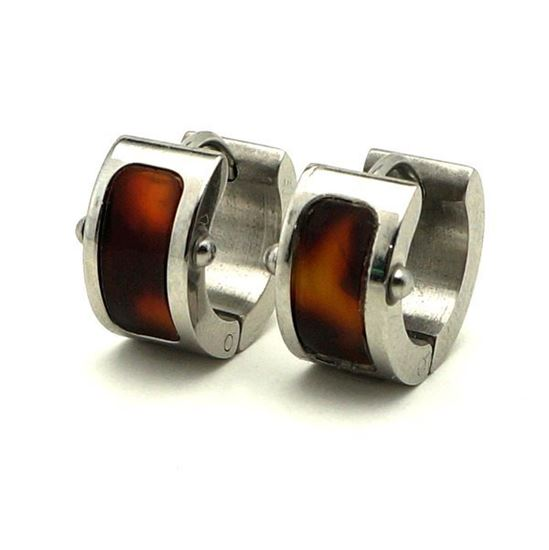 Picture of Hoop Huggie Earrings Stainless Steel High