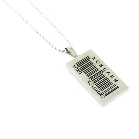 Picture of Stainless Steel Barcode Men Necklace