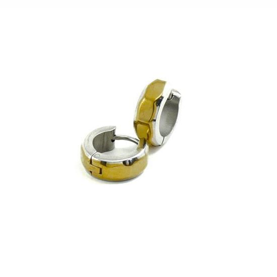 Picture of Huggie Earrings Stainless Steel Gold Plating