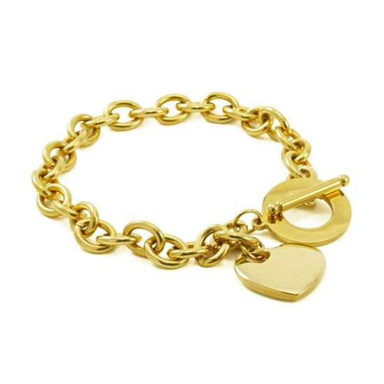 Picture of MIS Heart Toggle Bracelet Stainless Steel Polished