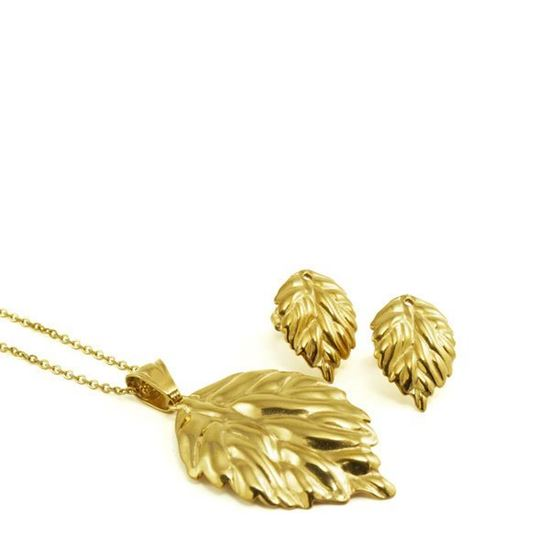 Picture of Fiesta Leaves Set Necklace Stainless Steel