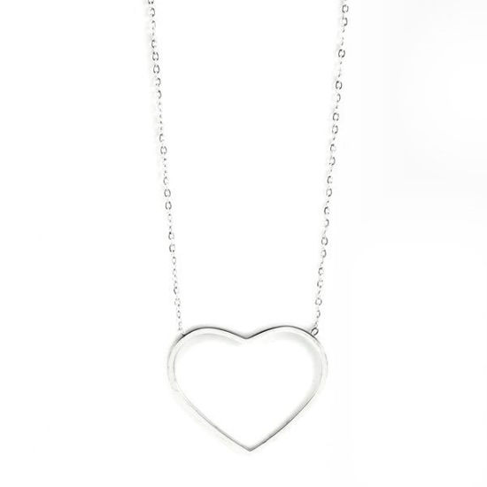 Picture of Heart Necklace Stainless Steel Silver