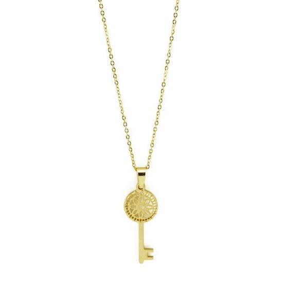 Picture of ANFLO Gold Key Necklace Stainless Steel
