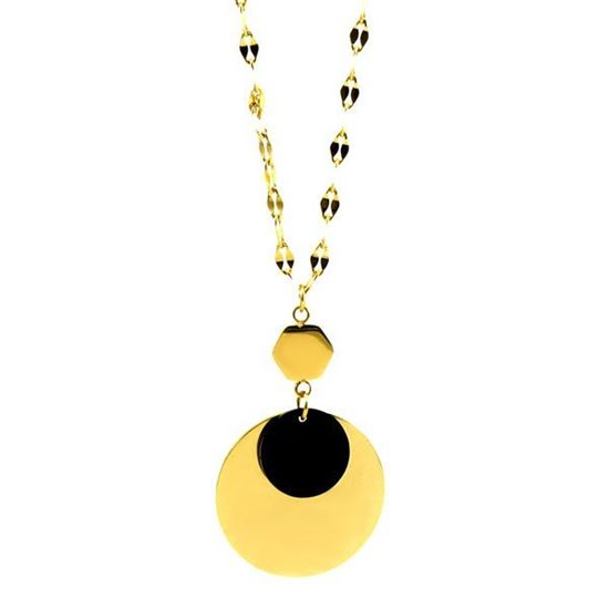 Picture of MIS Gold Geometric Necklace Stainless Steel