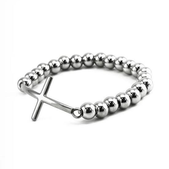 Picture of MIS Cross Bead Bracelet Stainless Steel
