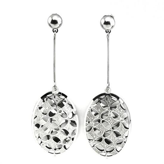 Picture of Dangling Earrings Silver Plating Stainless Steel