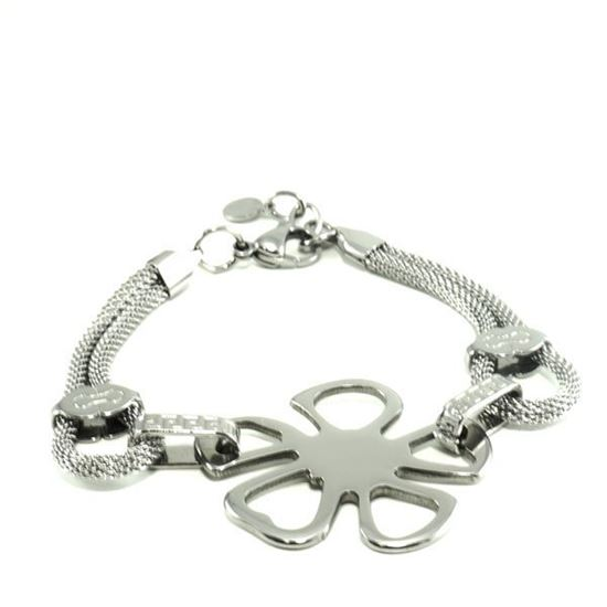 Picture of Flower Bracelet Stainless Steel High Polished