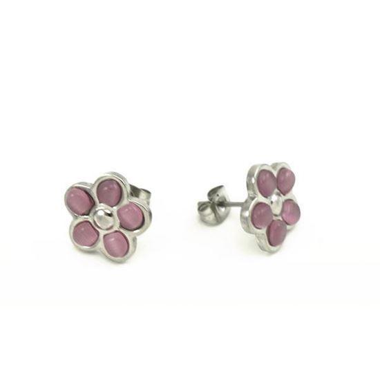 Picture of MIS Flower Stud Earrings Stainless Steel
