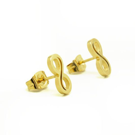 Picture of Infinity Earrings Stainless Steel Gold Plating
