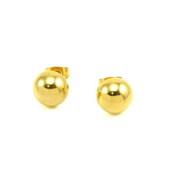 Picture of Stud Earrings Stainless Steel Gold Plating