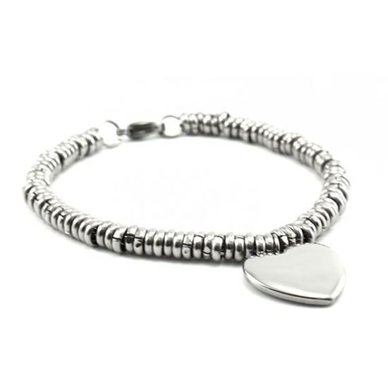Picture of Charm Heart Stainless Steel High Polished