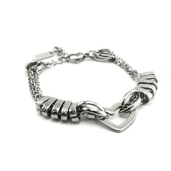 Picture of Woman Heart Bracelet Stainless Steel