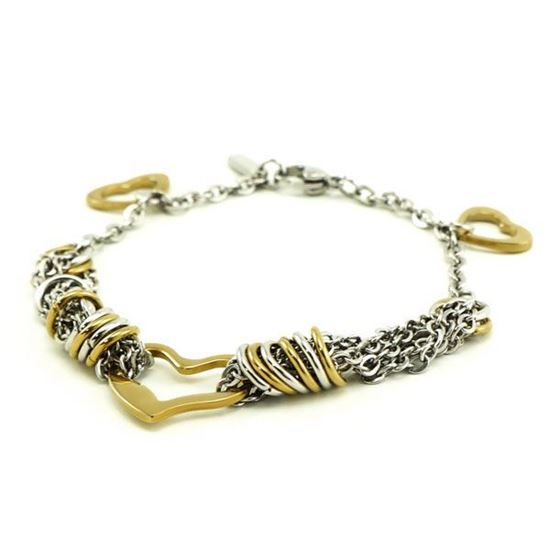 Picture of Heart Bracelet Stainless Steel Gold Plating