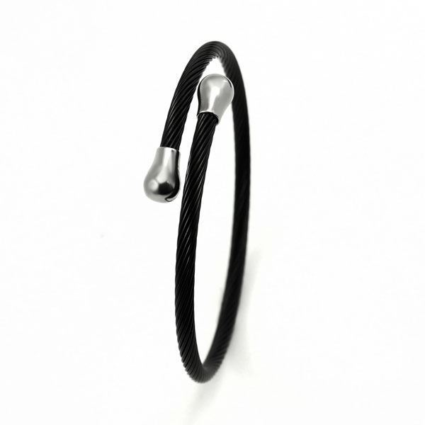Picture of ANFLO Black Cable Bracelet Stainless Steel