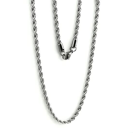 Picture of Stainless Steel Rope Chain Necklace 30""