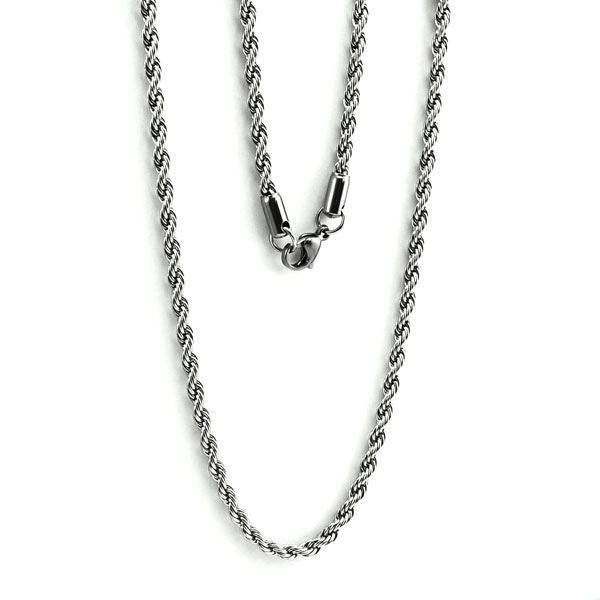 """Picture of Stainless Steel Rope Chain Necklace 30"""""""