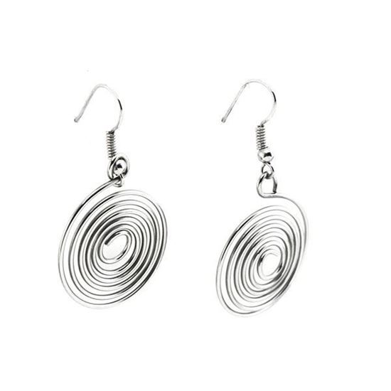 Picture of Spiral Dangling Earrings Stainless Steel