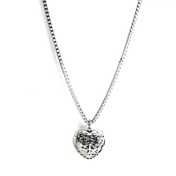Picture of Silver Heart Long Necklace