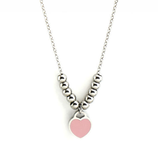 Picture of Heart Enamel Stainless Steel  Necklace