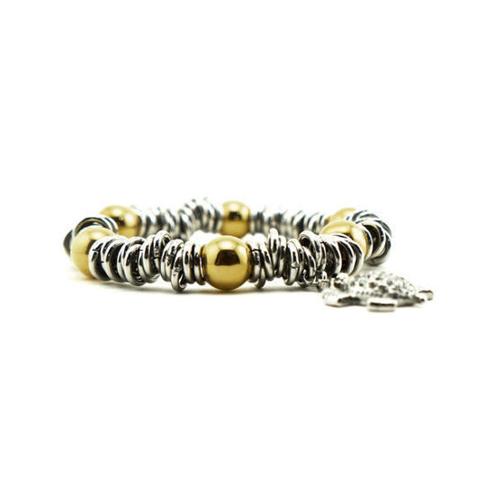 Picture of Rings Bracelet Stainless Steel Polished