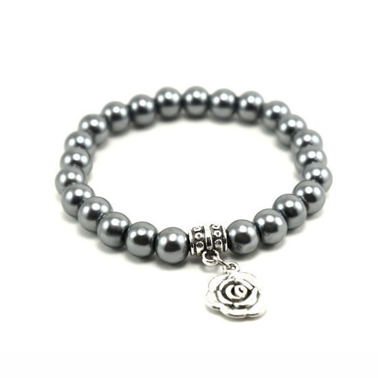 Picture of Handmade Beads Bracelet With Charm