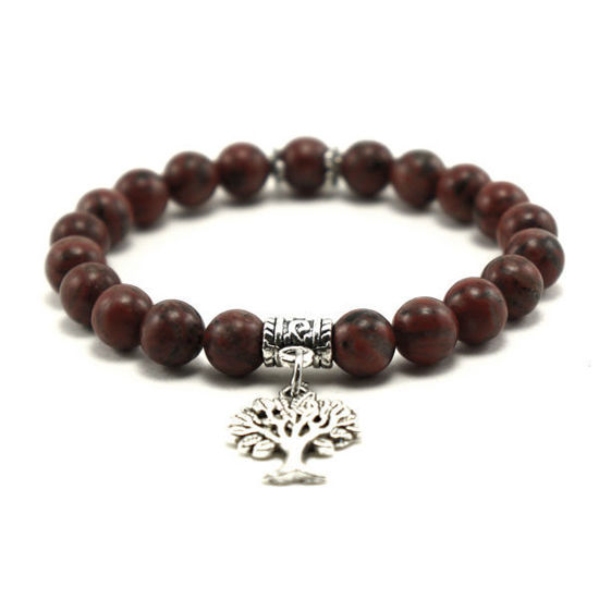 Picture of Handmade Beads Bracelet With Tree of Life Charm