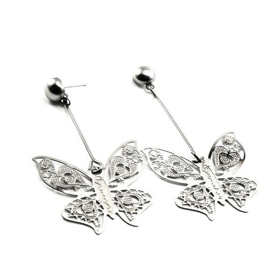 Picture of Dangling Earrings Butterfly  Stainless Steel