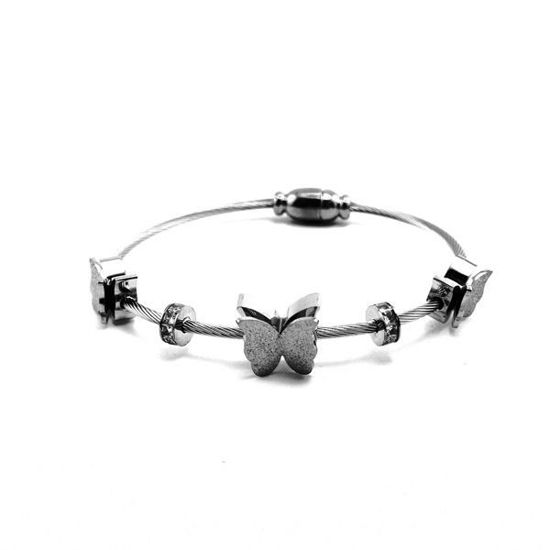 Picture of Butterfly Bracelet Cuff Stainless Steel
