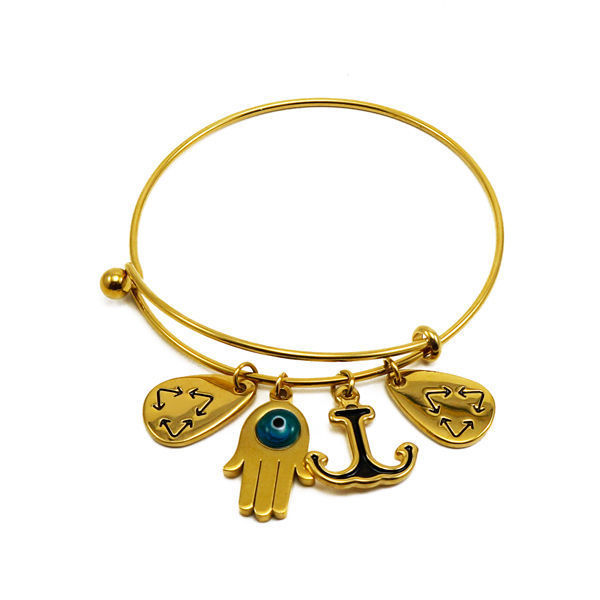 Picture of Charms Bracelet Stainless Steel Gold Plating