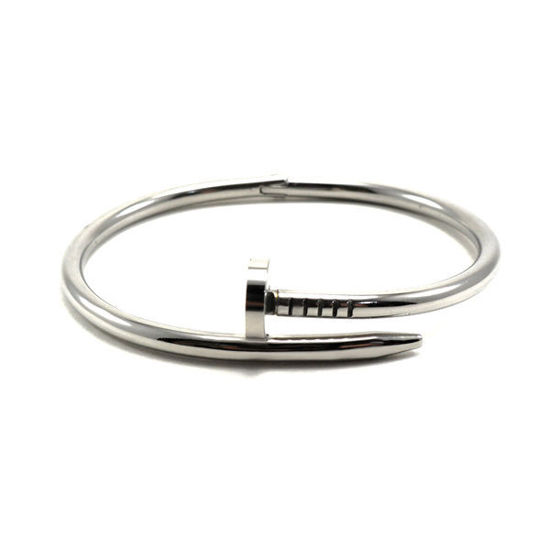 Picture of Nail Bangle Bracelet Silver Stainless Steel