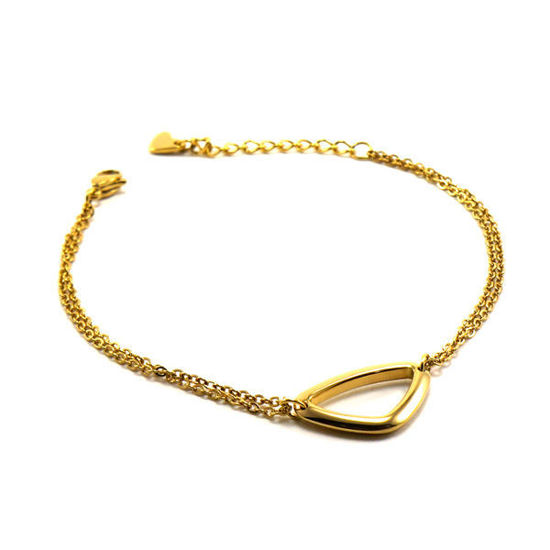 Picture of Geometric Bracelet Fine Chain Stainless Steel