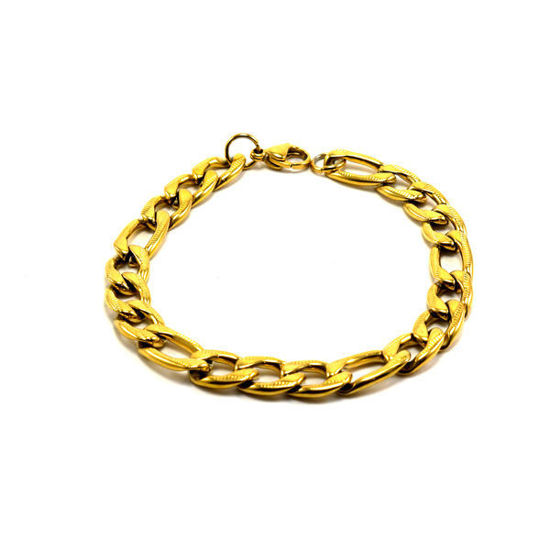 Picture of Men Figaro Chain Bracelet Stainless Steel