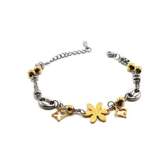 Picture of Woman Flower Bracelet Stainless Steel