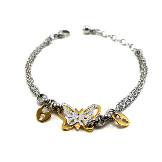 Picture of Woman Butterfly Bracelet Stainless Steel