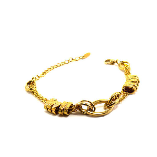 Picture of Woman Bracelet Stainless Steel IP Gold Plating