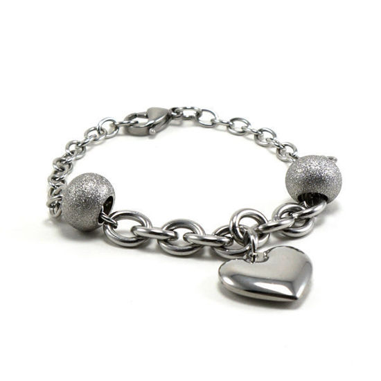Picture of Heart Charm Bracelet Stainless Steel