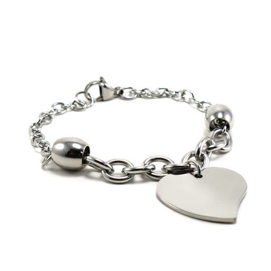 Picture of MIS Heart Bracelet Stainless Steel