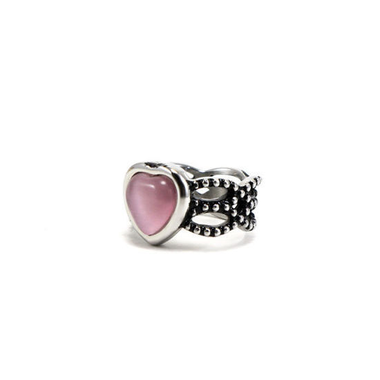 Picture of Crystal Heart Ring Stainless Steel High Quality