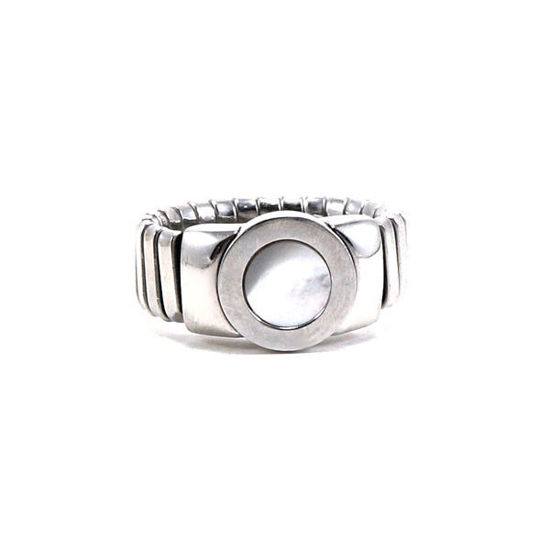 Picture of Mother Pearl Ring Stainless Steel High Polished