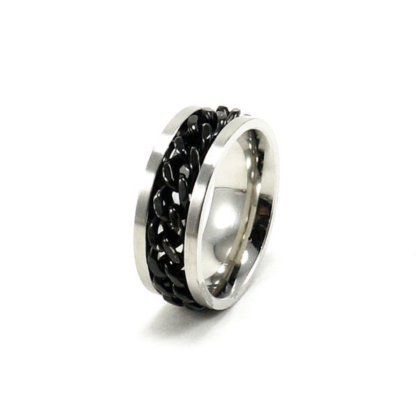 Picture of Men Silver Stainless Steel Band Ring