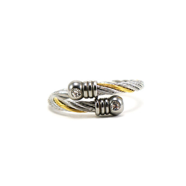 Picture of Cable Wire Ring Stainless Steel Two tone